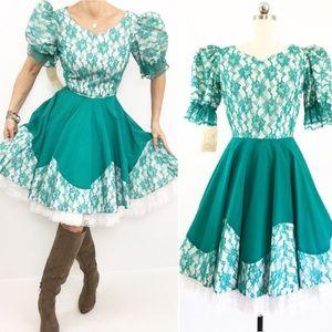 Vintage Western Dance Dress NWOT